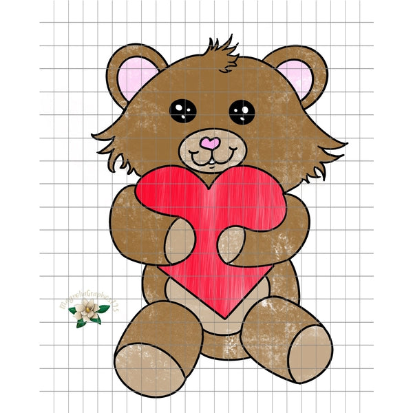 picture about Teddy Bear Printable named Valentine Teddy Undergo PNG Printable Layout