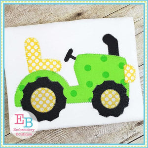 Tractor Blanket Stitch Applique, Applique