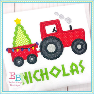 Tractor Tree Satin Applique