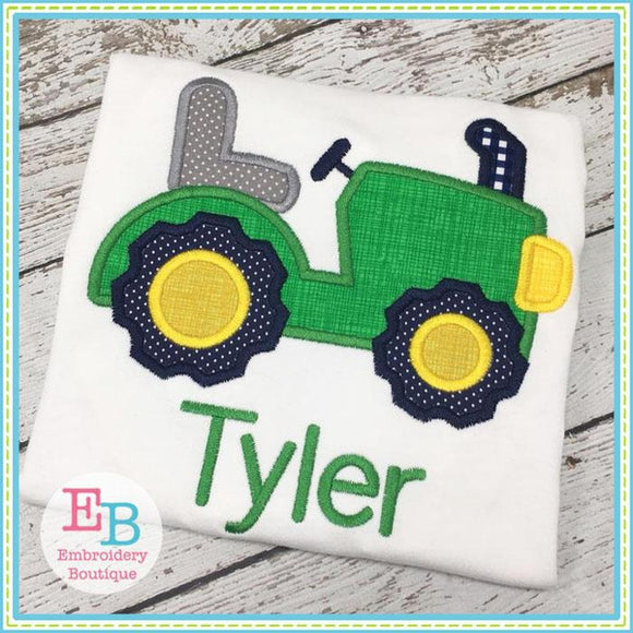 Tractor Applique, Tractor Embroidery Design