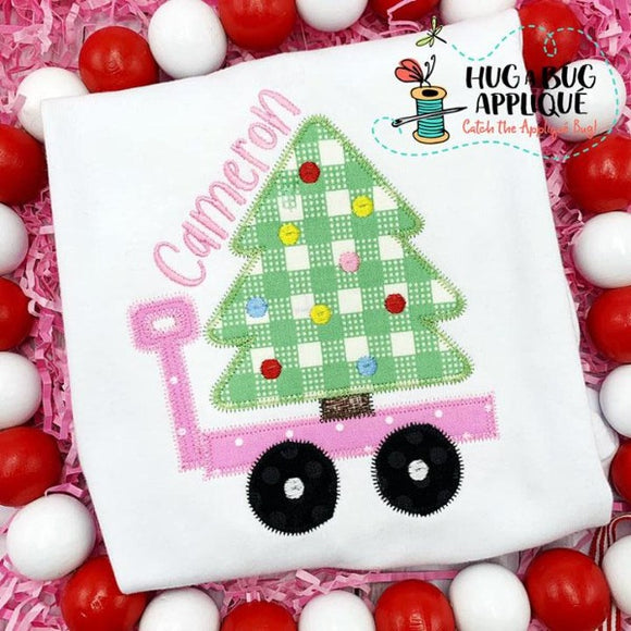 Tree Wagon Zig Zag Stitch Applique Design