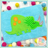 Triceratops Satin Applique-Embroidery Boutique