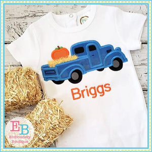Vintage Fall Truck Applique