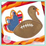 Football Turkey Satin Applique, Applique