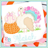 Turkey Pumpkins Blanket Stitch Applique
