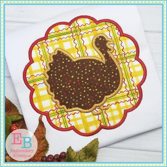 Turkey Scalloped Patch, Applique