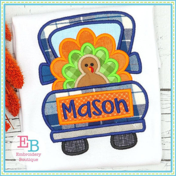 Truck Turkey Satin Applique