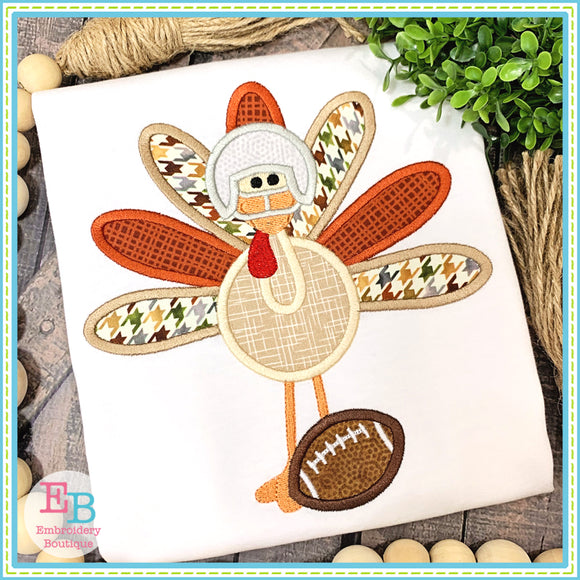 Football Turkey Applique, Applique