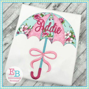 Umbrella Blanket Stitch Applique - Embroidery Boutique