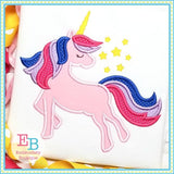 Whimsical Unicorn Satin Applique, Applique