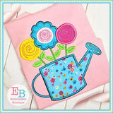 Watering Can Applique - Embroidery Boutique