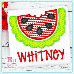 Half Watermelon Satin Applique
