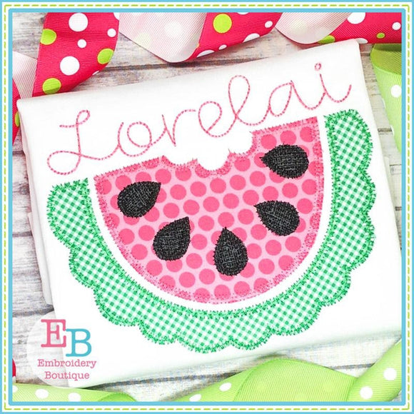 Half Watermelon Zigzag Applique, Applique