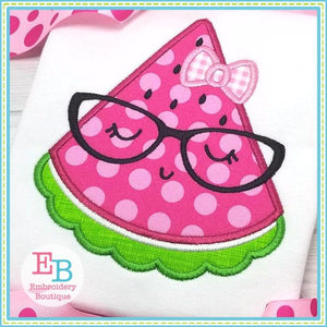 Watermelon Glasses Applique - Embroidery Boutique