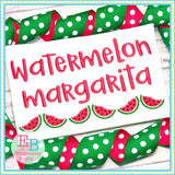 Watermelon Margarita Alphabet, Embroidery