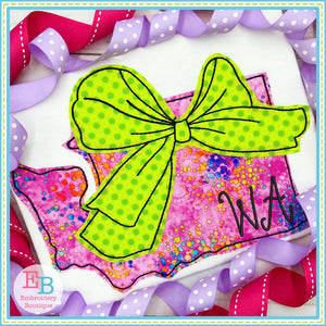 Big Bow Washington Bean Stitch Applique, Applique