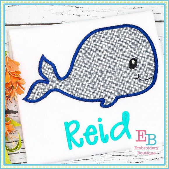 Whale 2 Applique, Applique
