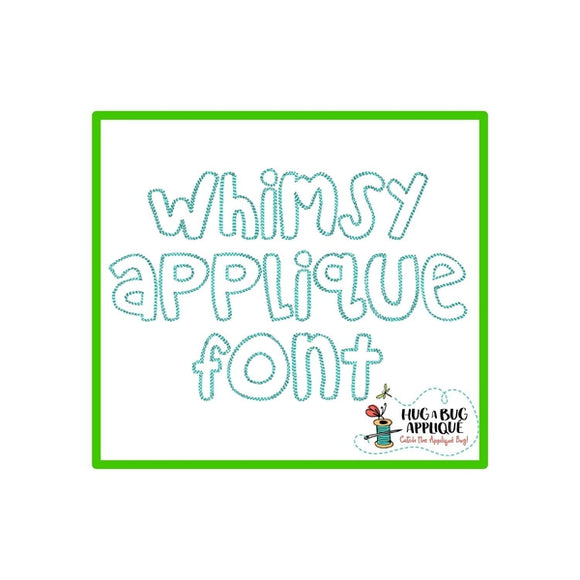 Whimsy Scribble Applique Font, Applique