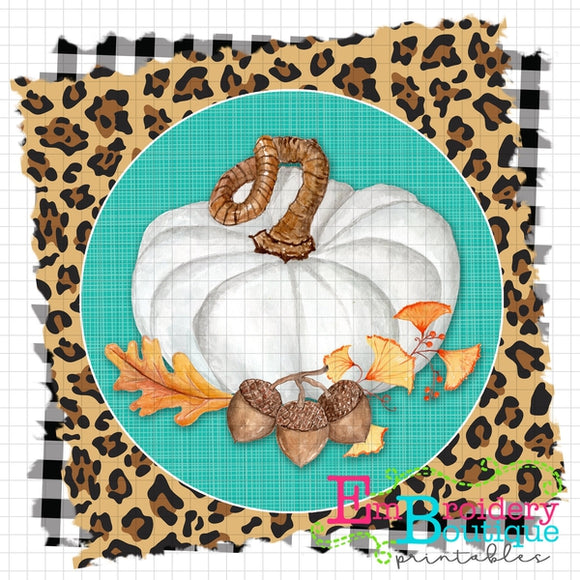 White Pumpkin Printable Design - embroidery-boutique