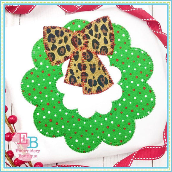Wreath Blanket Stitch Applique, Applique