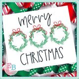 Merry Christmas Wreath Trio Design