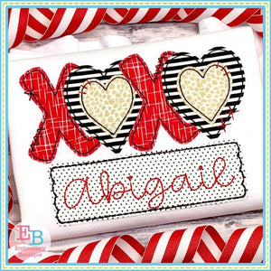 XOXO Applique, Applique