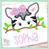Zebra Girl Peeker Applique