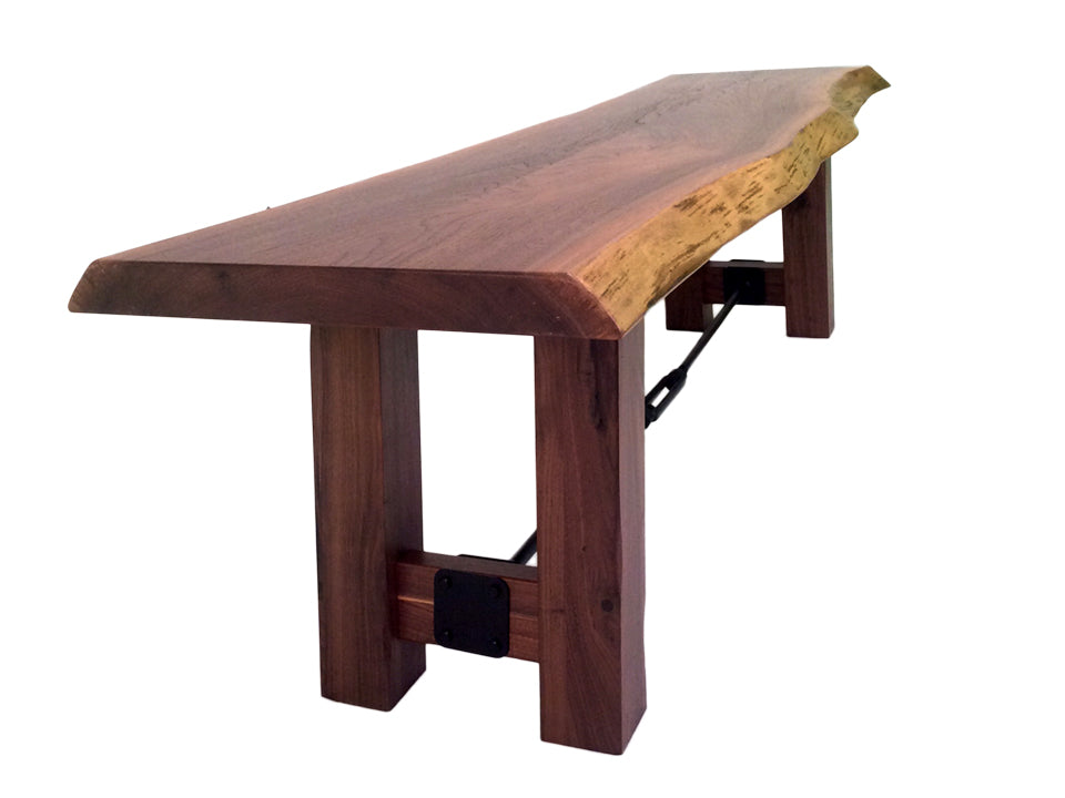 Settlers Trestle Live Edge Bench