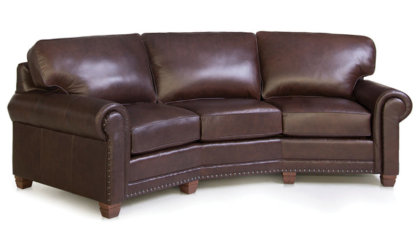 393 Leather Conversation Sofa