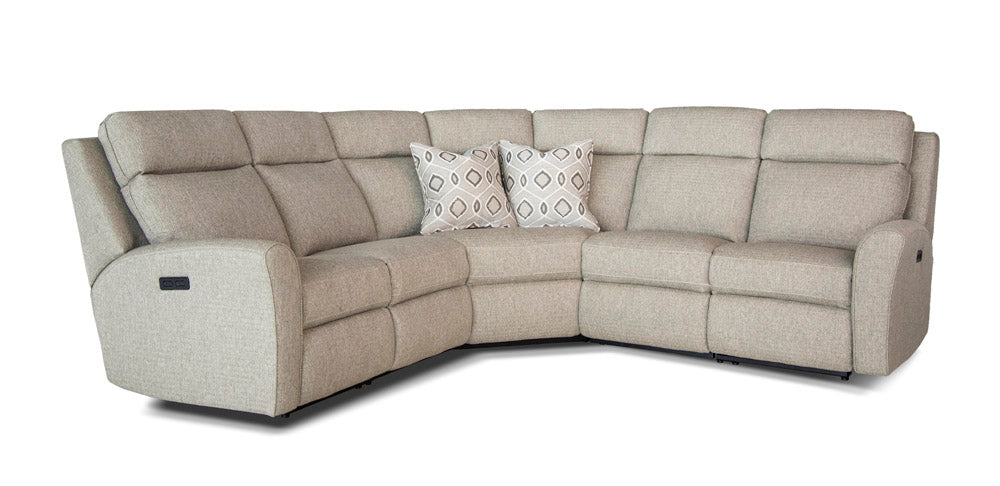 418 Sectional Motorized Recliner at Both Ends