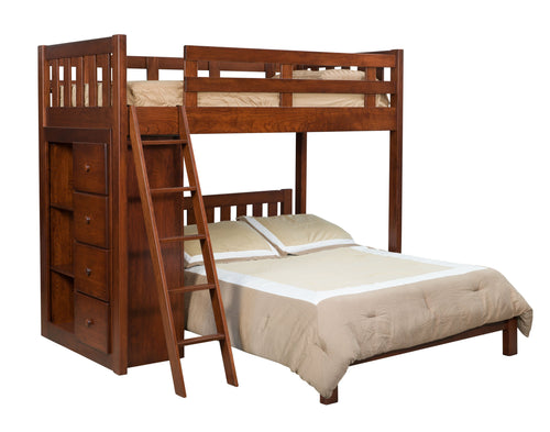 Bunk Bed w/ Bookcase