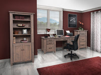 Barn Floor Double Desk