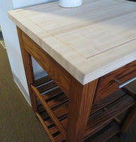 Chef's Work Station with Butcher Block Top