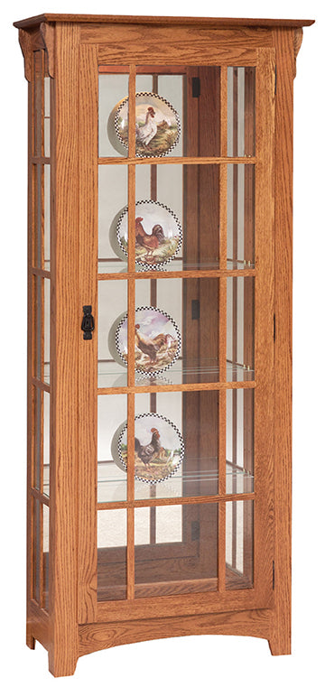 Mission Single Door Curio