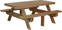 6' Rectangular Picnic Table