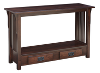 Prairie Mission Bottom Drawer Sofa Table