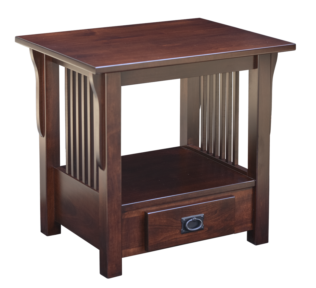Prairie Mission Bottom Drawer End Table