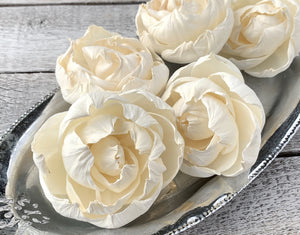 Sola Wood Flowers - Closed Peony