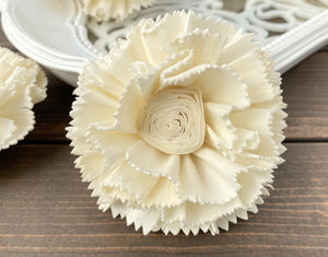 Sola Wood Flowers - Curly Carnation