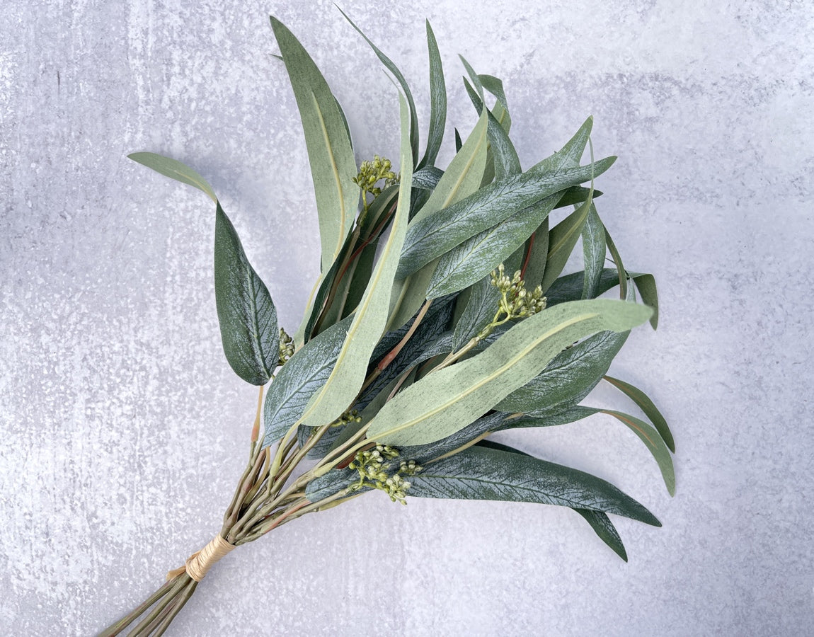 Seeded Willow Eucalyptus Bush Faux - Luv Sola Flowers - Faux Filler