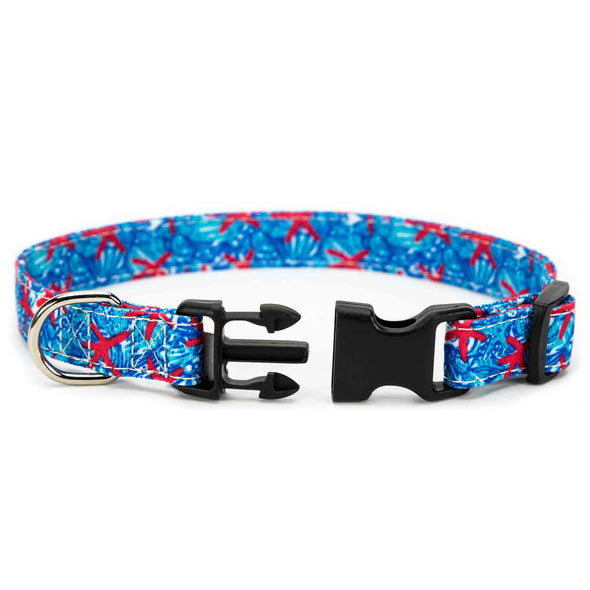 Blue Lily Dog Collar