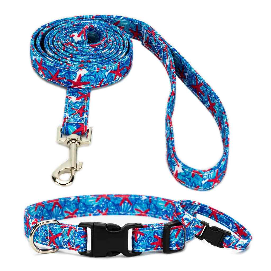 Blue Lily Collar, Bracelet & Leash Combo