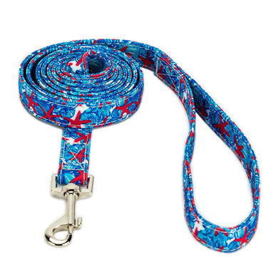 Blue Lily Dog Leash