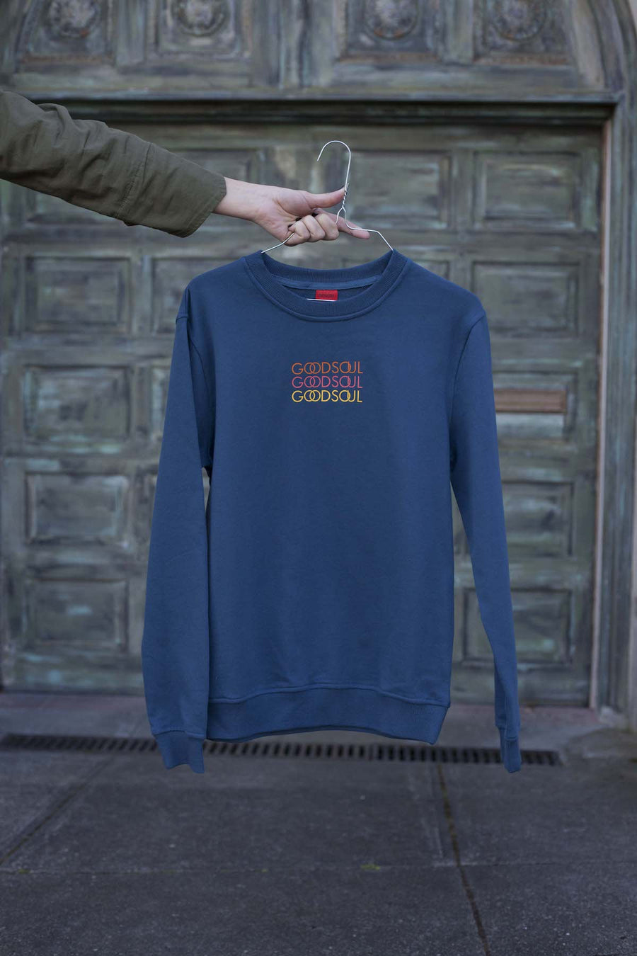 Waves of GOODSOUL Blue Sweatshirt
