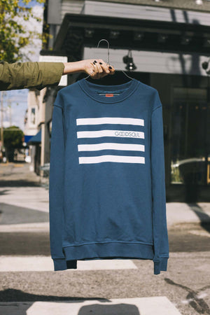 GOODSOUL Stripes Blue Sweatshirt