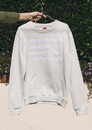 GOODSOUL Stripes White/ Grey Sweatshirt