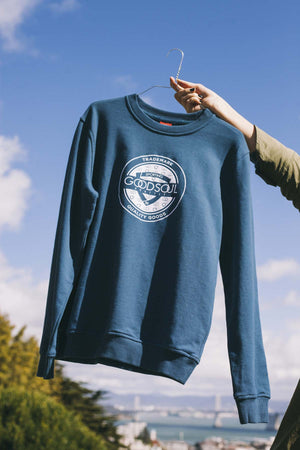 GOODSOUL Trademark Blue Sweatshirt