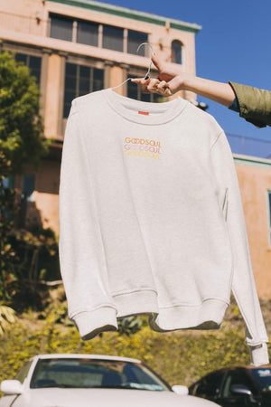 Waves of GOODSOUL White/Grey Sweatshirt