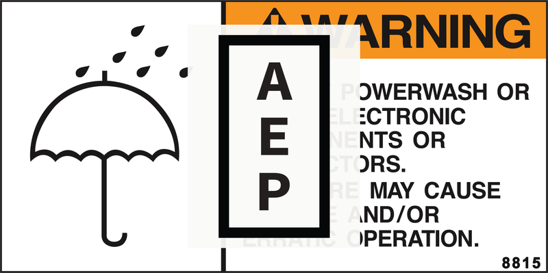 Mec 8815 Decal, Electric Moisture Warning