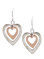 Matt Silver Color Earrings Two Tone